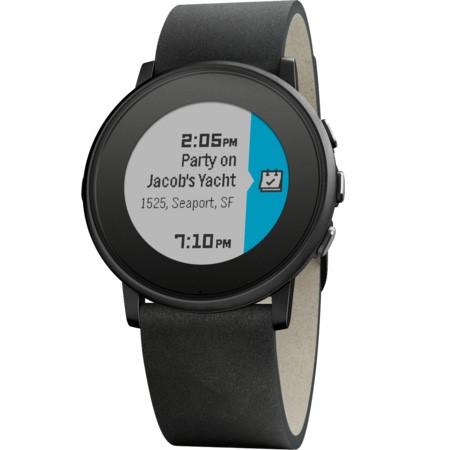 Pebble Time Round Smartwatch, 20mm pásek černé