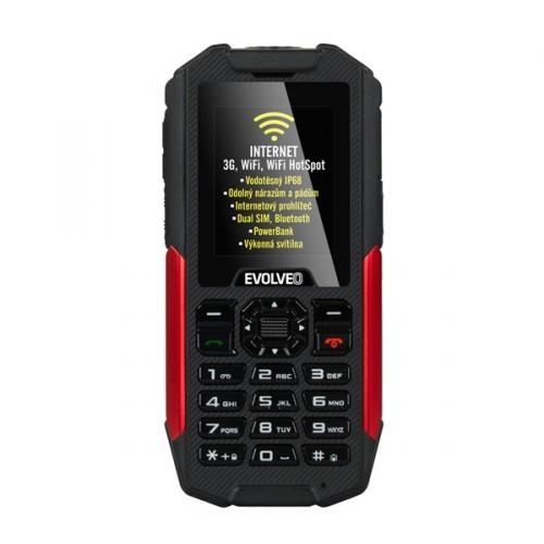 Evolveo StrongPhone X3 Dual SIM černý/červený + dárek