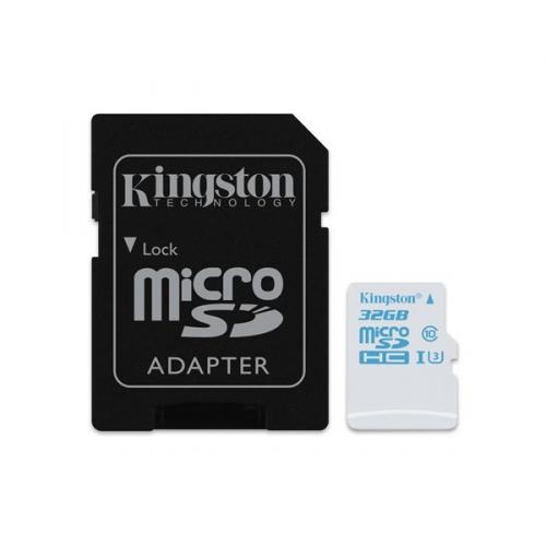 Kingston MicroSDHC 32GB UHS-I U3 (90R/45W) + adapter