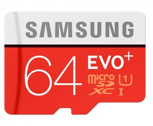 Samsung Micro SDXC EVO+ 64GB UHS-I U1 (80R/20W) + adapter