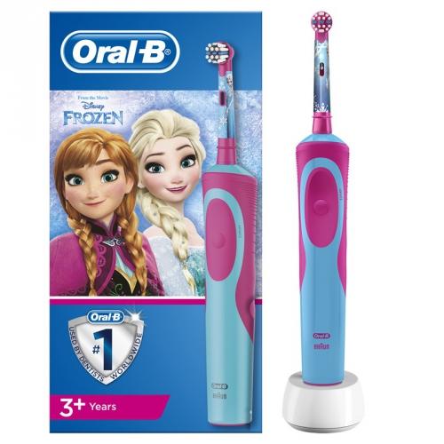 Oral-B Vitality D12K Frozen červený/modrý + dárky