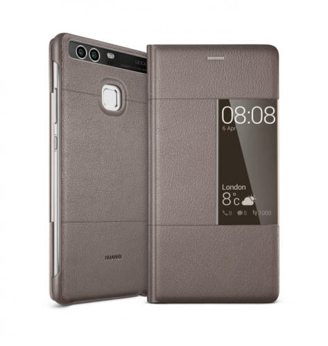 Huawei Smart Cover pro P9 hnědé