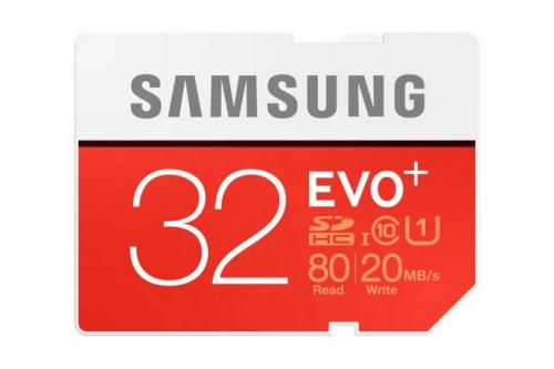 Samsung SDHC EVO+ 32GB UHS-I U1 (80R/20W)