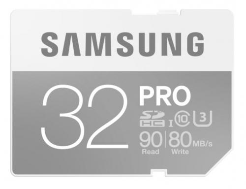 Samsung SDHC PRO 32GB UHS-I U3 (90R/80W)