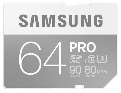 Samsung SDXC PRO 64GB UHS-I U3 (90R/80W)