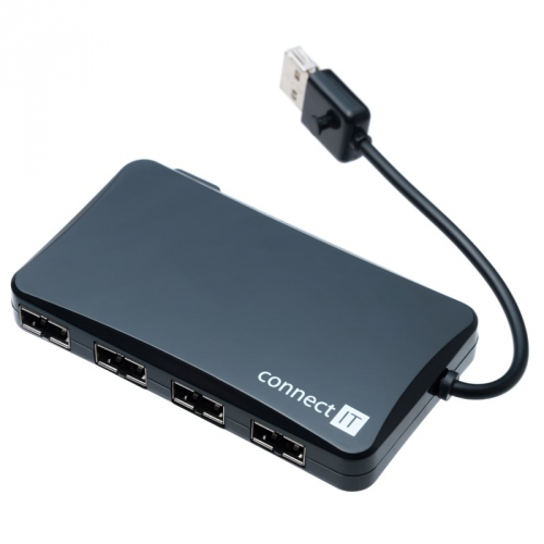 Connect IT (CI-141) USB 2.0 / 4x USB 2.0 černý