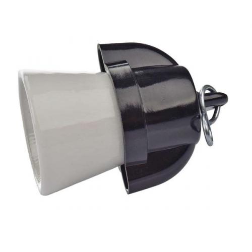 Objímka na žárovku E27 plastová keramická 1332-146