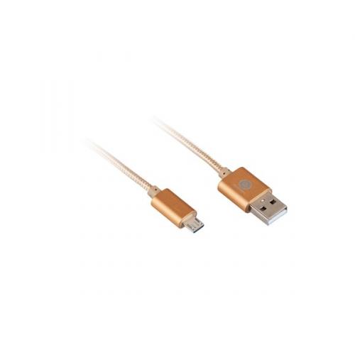 GoGEN USB/micro USB, 1m, oplétáný zlatý (MICUSB 100 MM06)