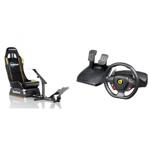 Set (Volant Thrustmaster Ferrari 458 Italia + pedály pro PC, Xbox 360 ) + (Herní sedačka Playseat Evolution TopGear)