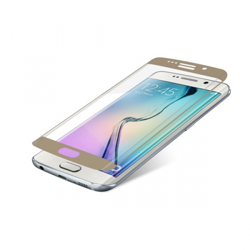 InvisibleSHIELD Glass Contour pro Samsung Galaxy S6 Edge - zlatý rám