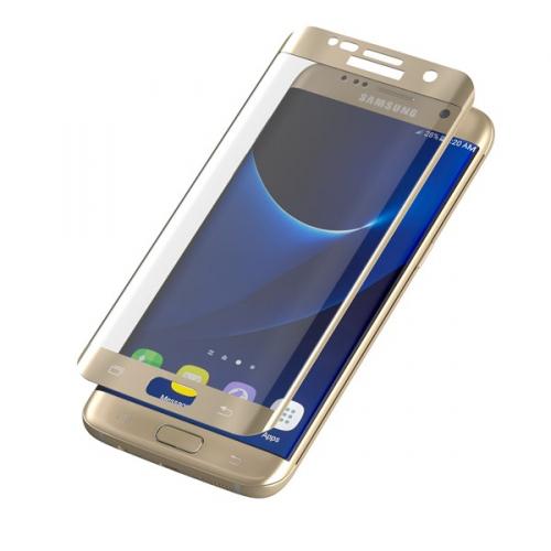 InvisibleSHIELD Glass Contour pro Samsung Galaxy S7 Edge - zlatý rám