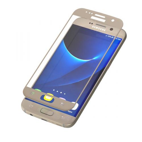 InvisibleSHIELD Glass Contour pro Samsung Galaxy S7 - zlatý rám