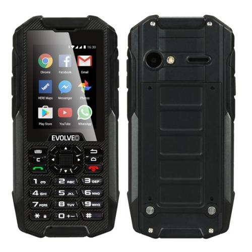 Evolveo StrongPhone X4, vodotěsný odolný Android smartphone s klávesnicí černý + dárky