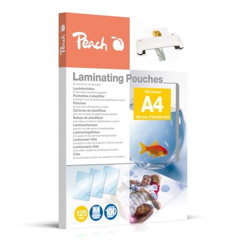Laminovací fólie Peach A4 (216x303mm), 125mic, 100 ks