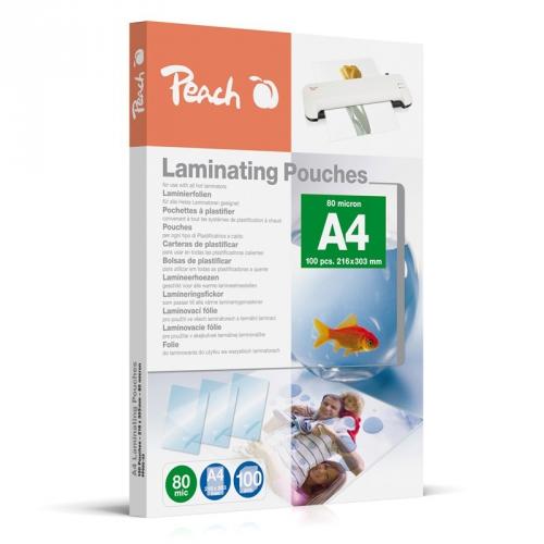 Laminovací fólie Peach A4 (216x303mm), 80mic, 100 ks
