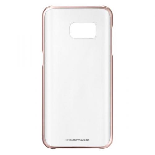 Fotografie Kryt na mobil Samsung Clear Cover pro Galaxy S7 (EF-QG930CZ) - růžový/průhledný