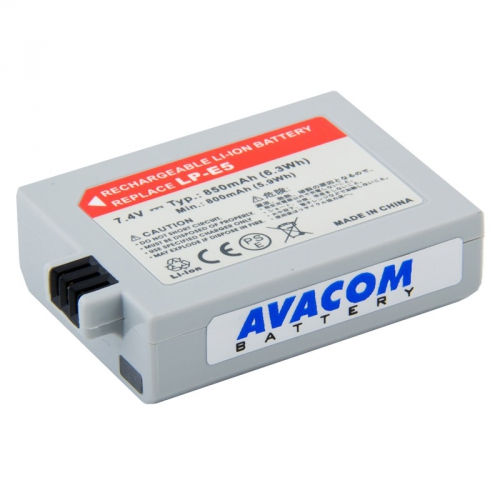 Fotografie AVACOM Canon LP-E5 Li-Ion 7.4V 850mAh 6.3Wh (DICA-LPE5-365N2)