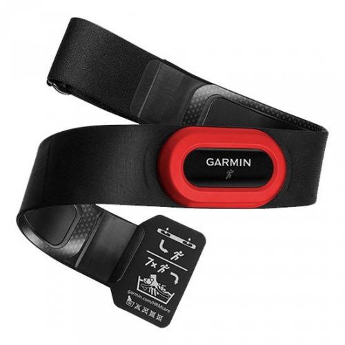 Hrudní pás Garmin HRM RUN2 pro běh s měřením běžecké dynamiky černý/červený