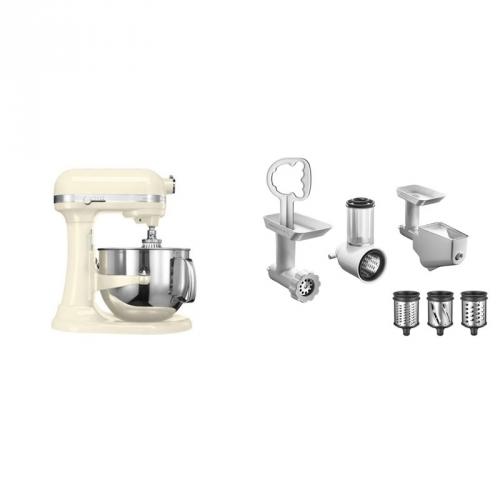 Set (Příslušenství k robotům KitchenAid 5KR7SB) + (Příslušenství k robotům KitchenAid FPPC) + (Kuchyňský robot KitchenAid Artisan 5KSM7580XEAC)