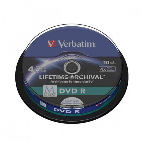 Verbatim DVD-R M-Disc 4,7GB, 4x, printable, 10-cake