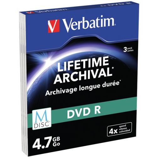 Verbatim DVD-R M-Disc 4,7GB, 4x, printable, slim box, 3ks