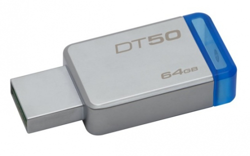 Kingston DataTraveler 50 64GB modrý/kovový