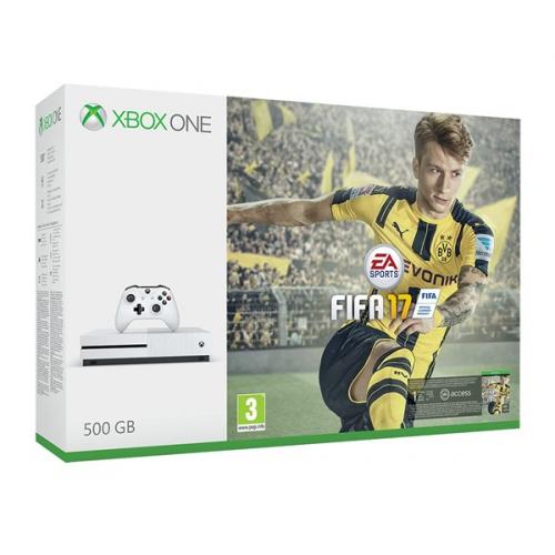 Microsoft Xbox One S 500 GB + FIFA 2017 bílá