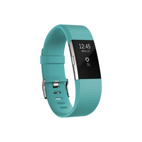 Fitbit Charge 2 large - Teal Silver