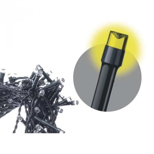 Vánoční osvětlení EMOS 180 LED, 18m, řetěz, teplá bílá, časovač, i venkovní použití