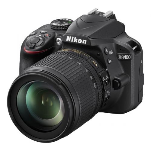 Nikon D3400 + 18-105 AF-S DX VR + 4x čištění čipu zdarma
