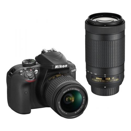 Nikon D3400 + AF-P 18-55 VR + 70-300 VR + 4x čištění čipu zdarma