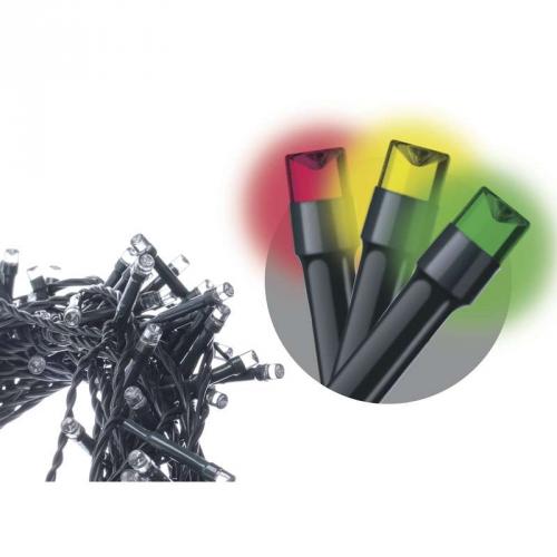 EMOS 180 LED, 18m, řetěz, vícebarevná, časovač, i venkovní použití