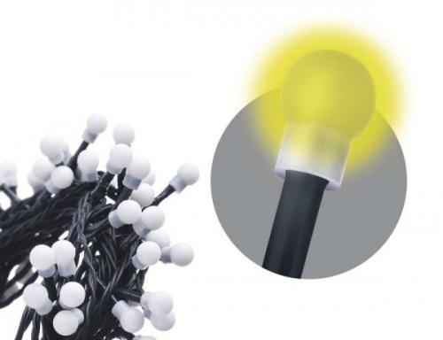 EMOS 200 LED, 20m, řetěz (kulička), teplá bílá, časovač, i venkovní použití