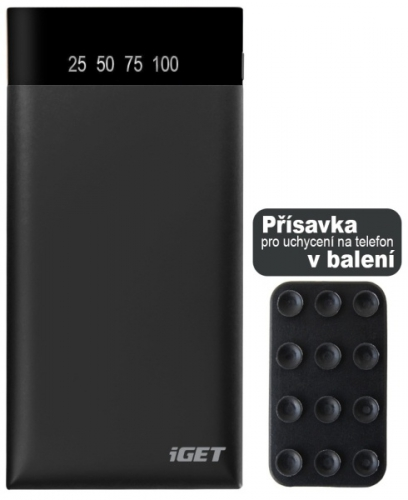 iGET POWER B 10000 mAh černá