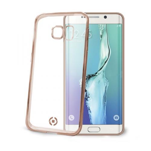 Fotografie Kryt na mobil Celly Laser pro Samsung Galaxy S6 Edge - zlatý