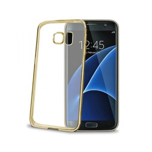 Fotografie Celly Laser pro Samsung Galaxy S7 Edge zlatý (BCLS7EGD)