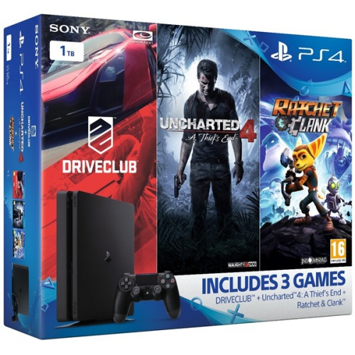 Sony PlayStation 4 SLIM 1TB Family pack černá