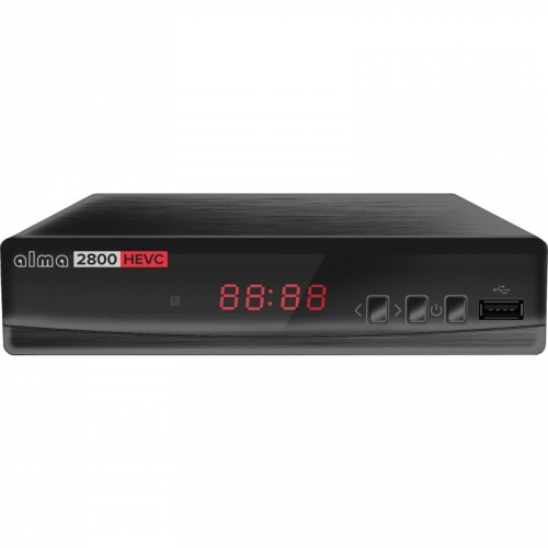 Set-top box ALMA 2800 s DVB-T2 s HEVC (H.265) černý