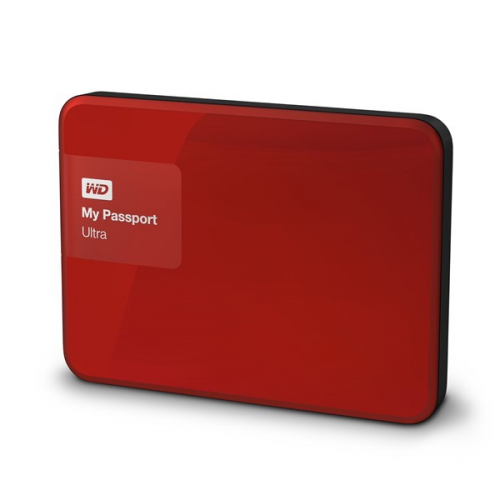Western Digital My Passport Ultra 4TB červený