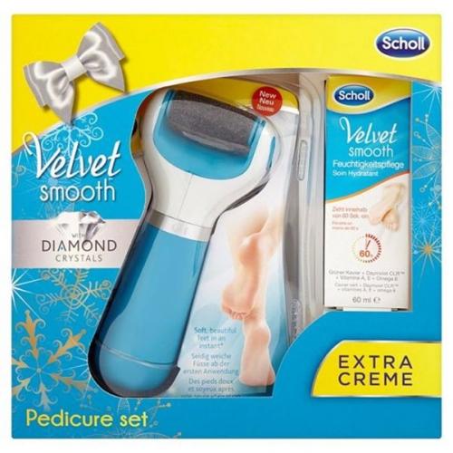 Elektrický pilník na chodidla Scholl Velvet Smooth + denní hydratační krém 60 ml