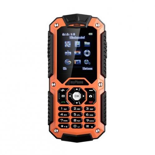 myPhone HAMMER DUAL SIM černý/oranžový