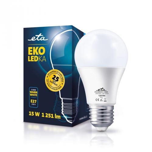 ETA EKO LEDka klasik, 15W, E27, teplá bílá bílá