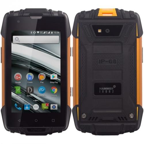 myPhone HAMMER IRON 2 Dual SIM černý/oranžový