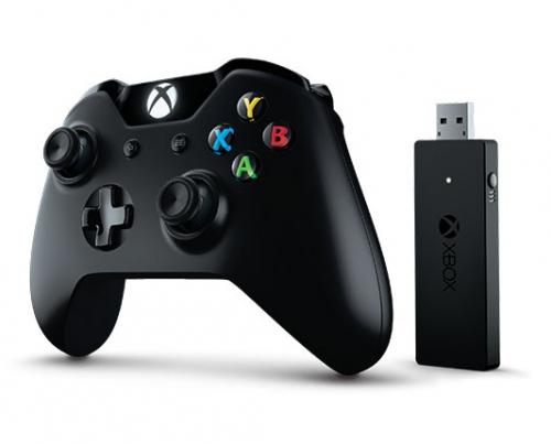 Microsoft Xbox One Wireless + adapter pro Windows 10 černý