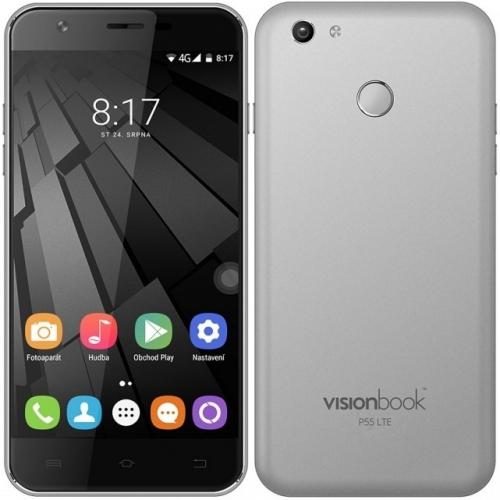 Mobilní telefon Umax VisionBook P55 LTE šedý
