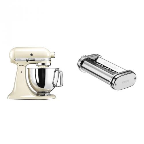 Set (Přísl. k robotům - nástavec na těstoviny KitchenAid 5KSMPRA) + (Kuchyňský robot KitchenAid Artisan 5KSM125EAC)