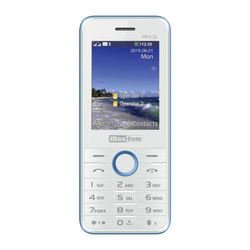 MaxCom Classic MM136 Dual SIM bílý/modrý