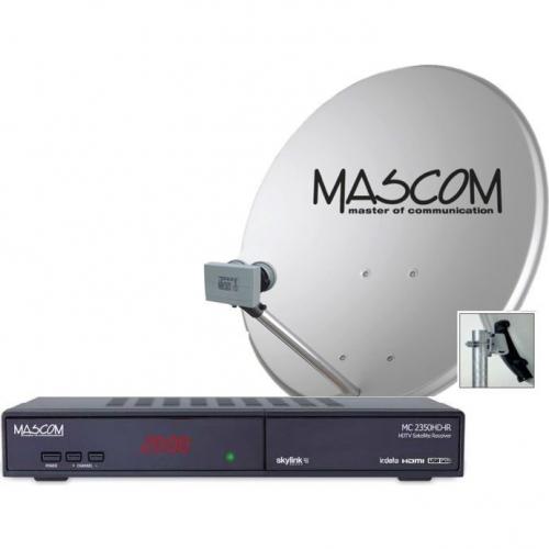 Fotografie Satelitní komplet Mascom MC2350/80MBL, příjem 2 družic