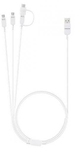 Kabel Samsung USB/3x micro USB + USB/C, 1m bílý
