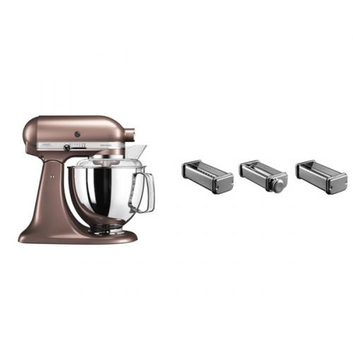 Set (Přísl. k robotům - nástavec na těstoviny KitchenAid 5KSMPRA) + (Kuchyňský robot KitchenAid Artisan 5KSM175PSEAP)
